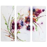 Fluff 24-Inch x 36-Inch Symmetrically Gallery Wrapped Canvas Wall Art (Set of 3)
