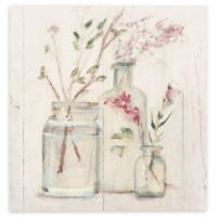 Blossoms on Birch VI 14-Inch Square Canvas Wall Art