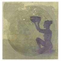 ArtWall Astral Goddess 12-Inch Wood Pallet Wall Art
