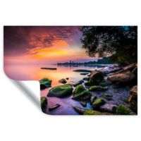 ArtWall Cleveland Ohio Sunrise at Edgewater Beach 32-Inch x 48-Inch Wall Art