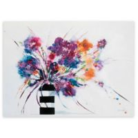 Jan Griggs 36-Inch x 48-Inch Floral Stripes Canvas Wall Art