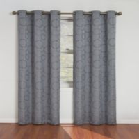 SolarShield® Sphere 95-Inch Grommet Room Darkening Window Curtain Panels in Blue