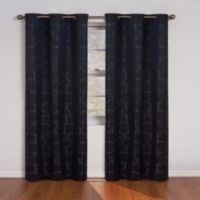 SolarShield® Sphere 84-Inch Grommet Room Darkening Window Curtain Panel in Black