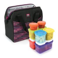 California Innovations High Performance Lunch Bag with 16-Piece Container Set in Purple