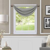 Brooke Waterfall Room Darkening Window Valance in Grey