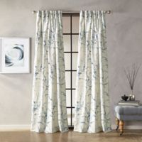 Botanical 108-Inch Grommet Window Curtain Panel in Indigo