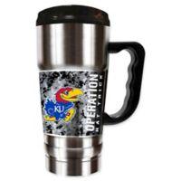 University of Kansas Operation Hat Trick™ 20 oz. Stainless Steel Travel Mug