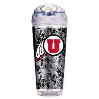 University of Utah Operation Hat Trick™ 24 oz. Clear Acrylic Travel Tumbler
