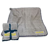 University of Michigan Frosty Fleece Throw Blanket