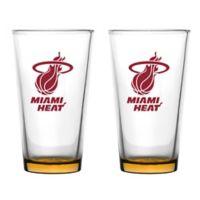 NBA Miami Heat Embossed Pint Glasses (Set of 2)