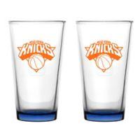 NBA New York Knicks Embossed Pint Glasses (Set of 2)