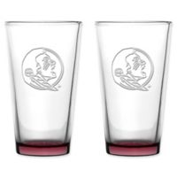 Florida State University Embossed Pint Glasses (Set of 2)