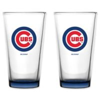 MLB Chicago Cubs Embossed Pint Glasses (Set of 2)