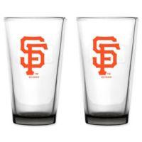 MLB San Francisco Giants Embossed Pint Glasses (Set of 2)