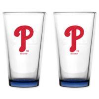 MLB Philadelphia Phillies Embossed Pint Glasses (Set of 2)