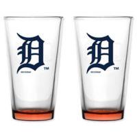 MLB Detroit Tigers Embossed Pint Glasses (Set of 2)