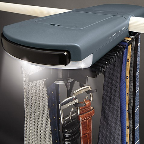 Electric tie rack bed bath beyond for Motorized tie racks for closets