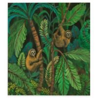 Sloth Journey 24-Inch Square Canvas Wall Art