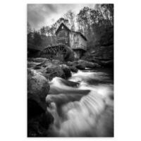 Glade Creek Grist Mill 12-Inch x 18-Inch Canvas Wall Art