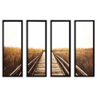 Studio Brookview 24-Inch x 32-Inch 4-Piece Fall Walk I Canvas Wall Art