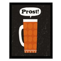 Craft Beer Prost 14-Inch Square Wall Art in Orange