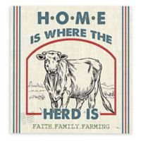 Sweet Farmhouse IV 24-Inch Square Canvas Wall Art in Blue