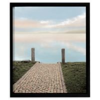 ArtWall Sunrise Harbor Vista 14-Inch Floating Frame Wall Art