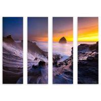 ArtWall Cape Kiwanda in Oregon 24-Inch x 32-Inch 4-Piece Multi Panel Gallery Wrapped Wall Art