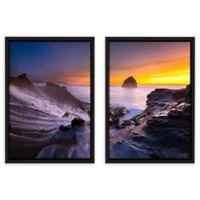Cody York 24-Inch x 36-Inch Cape Kiwanda in Oregon 2-Piece Floater Frame Canvas Wall Art