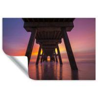 Cody York 12-Inch x 18-Inch Tybee Island Pier in Georgia Removable Vinyl Wall Decal