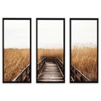 Fall Walk III 24-Inch x 36-Inch 3-Piece Photographic Floater Framed Gallery Wrapped Canvas
