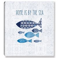 Sunday on the Coast 14-Inch Square Canvas Wall Art