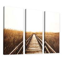 3-Piece Fall Walk I 36-Inch x 54-Inch Canvas Wall Art