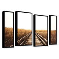 4-Piece Fall Walk I 24-Inch x 36-Inch Framed Canvas Wall Art