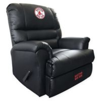 MLB Boston Red Sox Embroidered Faux Leather Recliner in Black