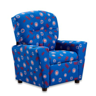 Official MLB® Kids Recliner In Chicago Cubs