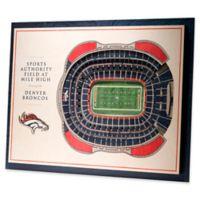 NFL Denver Broncos 5-Layer StadiumViews 3D Wall Art