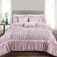 MHF Home Francis 10-Piece Queen Comforter Set in Grey