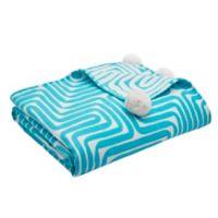 Trina Turk® Amazing Maze Turquoise-Aqua Throw