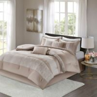 Madison Park Ava 7-Piece King Comforter Set in Taupe