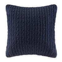 Woolrich® Buckley Cable Knit European Pillow Sham in Blue