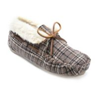 Minnetonka® Chrissy Size 8 Women's Slippers in Brown Plaid