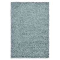 Unique Loom Solid Shag 4' X 6' Powerloomed Area Rug in Light Slate Blue