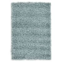 """Unique Loom Solid Shag 2'2"""" X 3' Powerloomed Area Rug in Light Slate Blue"""
