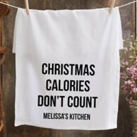 Christmas Expressions Personalized Flour Sack Towel