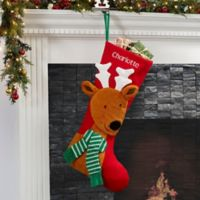 North Pole Reindeer Personalized Jumbo Christmas Stocking