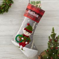 Wintry Cheer Elf Personalized Christmas Stocking