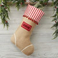 Burlap Cottage Christmas Personalized Christmas Stocking