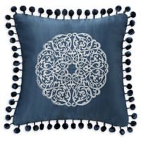Waterford® Jonet Pom Pom Throw Pillow in Indigo