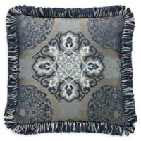 Waterford® Jonet Fringed Square Throw Pillow in Indigo